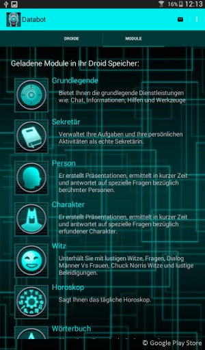 Siri® Alternativen App für Android: DataBot Assistent
