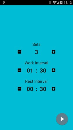 Android Uhren Apps: Interval Timer