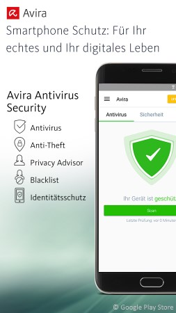 Android Virenschutz Apps im Test: Avira Antivirus Security