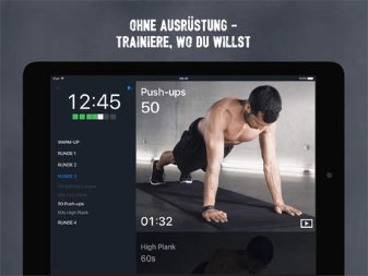 Fitness Apps: Runtastic Results Bodyweight Trainingsplan App
