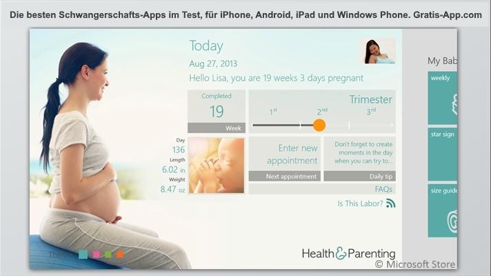 die besten kostenlosen schwangerschafts apps im testbericht. Black Bedroom Furniture Sets. Home Design Ideas