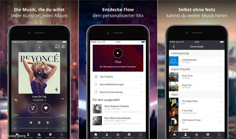 deezer app musikstreaming mit dem spotify konkurrenten. Black Bedroom Furniture Sets. Home Design Ideas