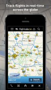 Screenshot of the FlightRadar24 Free App for iOS, from the iTunes Store.