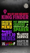 Screenshot der iPhone-App: Burger King App aus dem iTunes App Store (iOS).