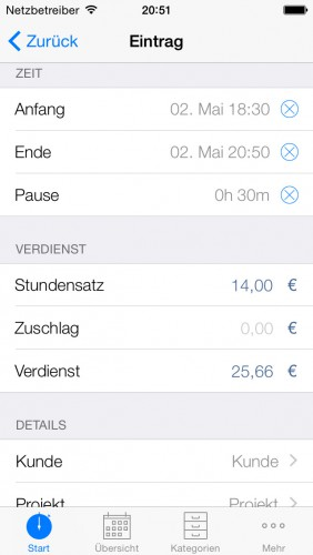 Stechuhr App Iphone