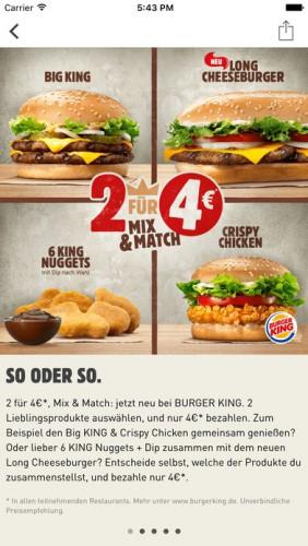 Burger king app deutschland