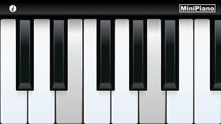 Screenshot der iPhone-App: MiniPiano aus dem iTunes App Store (iOS).