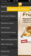 Screenshot der iPhone-App: McDonald's Deutschland aus dem iTunes App Store (iOS).