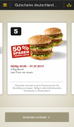 Mc Donalds's App - Screenshot Android