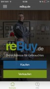 Screenshot der iPhone-App: reBuy.de aus dem iTunes App Store (iOS).