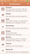 Screenshot der iPhone-App: Parcel aus dem iTunes App Store (iOS).