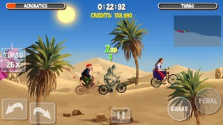 Screenshot der iPhone-App: Crazy Bikers 2 Free aus dem iTunes App Store (iOS).