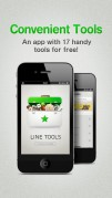Screenshot der iPhone-App: LINE Tools aus dem iTunes App Store (iOS).