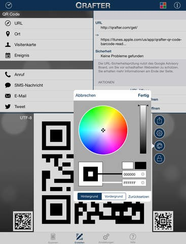 Qrafter Qr Code Leser App Für Ios Iphone Ipad