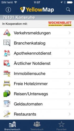YellowMap App - Begleiter für unterwegs  YellowMap App -...