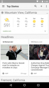 Screenshot 1 der Android-App: Google News & Wetter aus dem Google Play Store.