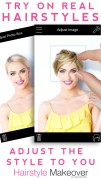 Screenshot der iPhone-App: Hairstyle Makeover aus dem iTunes App Store (iOS).