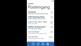 Screenshot der Windows Phone-App: GMX Mail aus dem Microsoft Windows Phone Store.