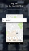 Screenshot 1 der Android-App: Uber App aus dem Google Play Store.