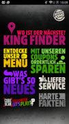 Screenshot 1 der Android-App: Burger King App aus dem Google Play Store.