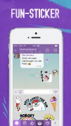 Screenshot der iPhone-App: Viber App aus dem iTunes App Store (iOS).